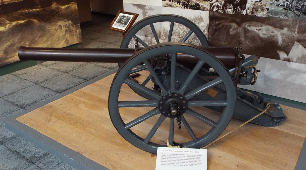 2.5 inch RML Mountain Gun, 'Screw Gun': Mohmand Field Force, 7th August to 1st October 1897, North-West Frontier of India: Firepower Museum