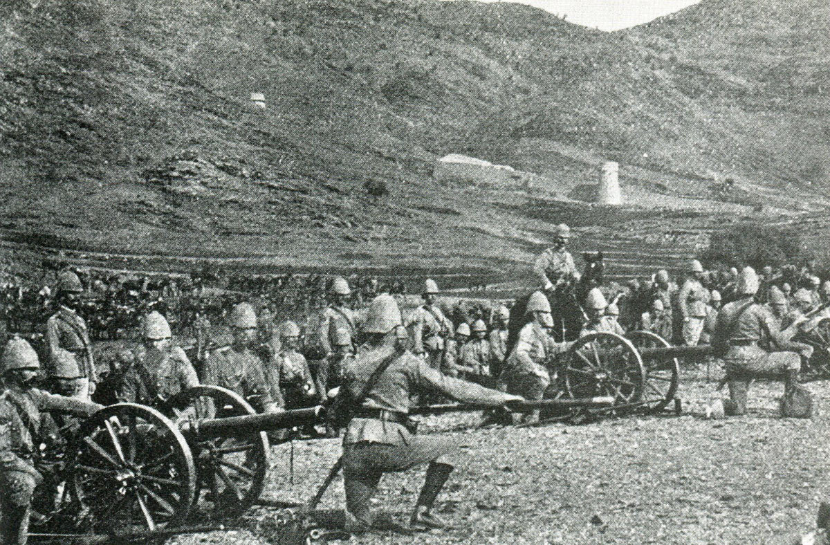 No 3 Mountain Battery, Royal Artillery: Mohmand Field Force, 7th August to 1st October 1897, North-West Frontier of India