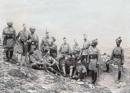 Troops from several regiments: Malakand Rising, 26th July to 22nd August 1897 on the North-West Frontier of India