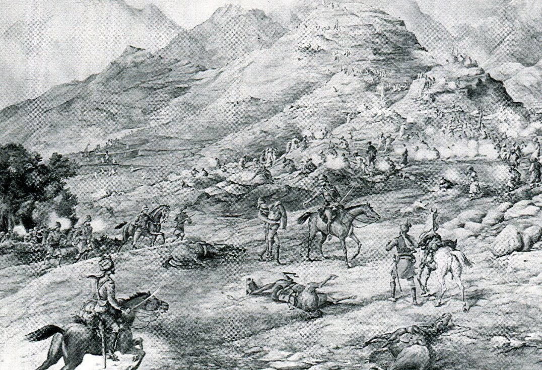Rescue of the officers at Landakai on 17th September 1897: Malakand Rising, 26th July to 22nd August 1897 on the North-West Frontier of India