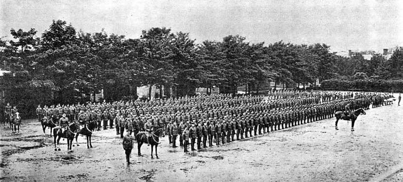2nd Royal Munster Fusiliers at Tidworth in 1912: Battle of Étreux on 27th August 1914 in the First World War