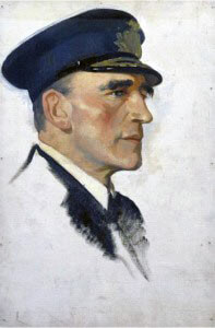 Commodore Reginald Tyrwhitt RN, commander of 1st and 3rd Destroyer Flotillas in the Battle of Heligoland Bight on 28th August 1914 in the First World War
