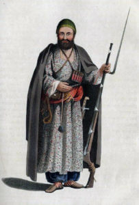Afghan tribesman: Battle of Kabul 1842 in the First Afghan War