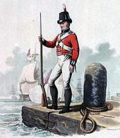 Royal Marine: Battle of Trafalgar on 21st October 1805 during the Napoleonic Wars