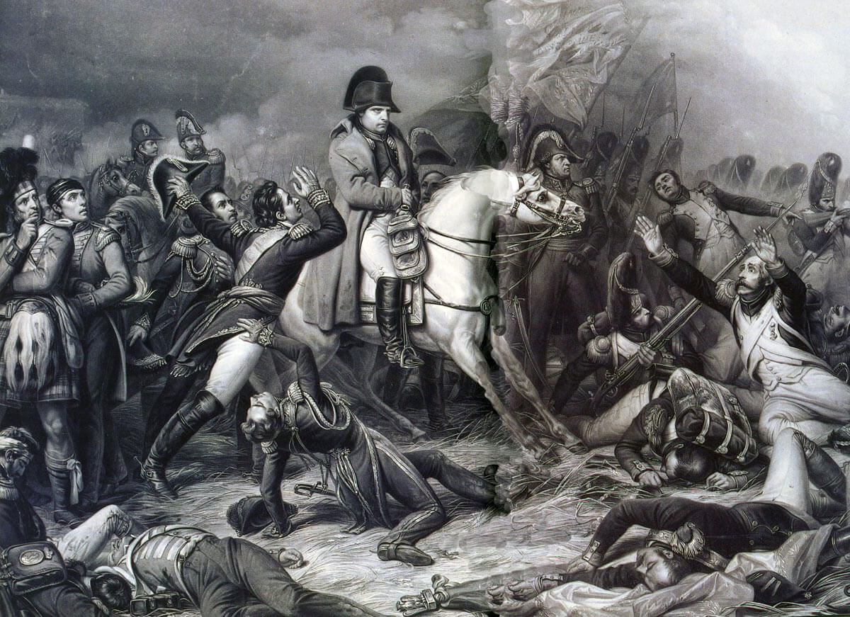 French Representation of Napoleon at the Battle of Waterloo