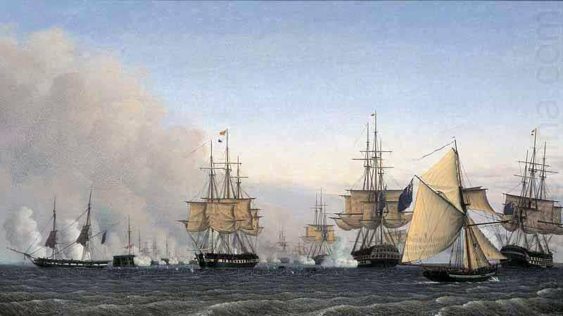 Battle of Copenhagen on 2nd April 1801 in the Napoleonic Wars: picture by Adelsteen Normann