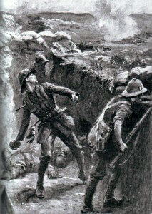Lieutenant Forshaw 1st/9th Manchesters, Territorial Force winning the VC at Suvla Bay throwing Tickler's jam tin grenades at attacking Turks for much of two days