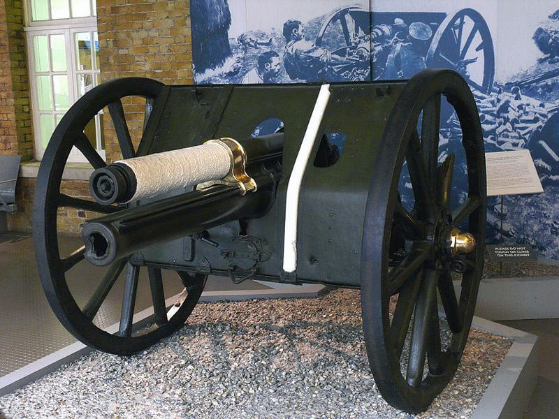 The Néry gun in the Imperial War Museum (C Gun): Battle of Néry on 1st September 1914 in the First World War