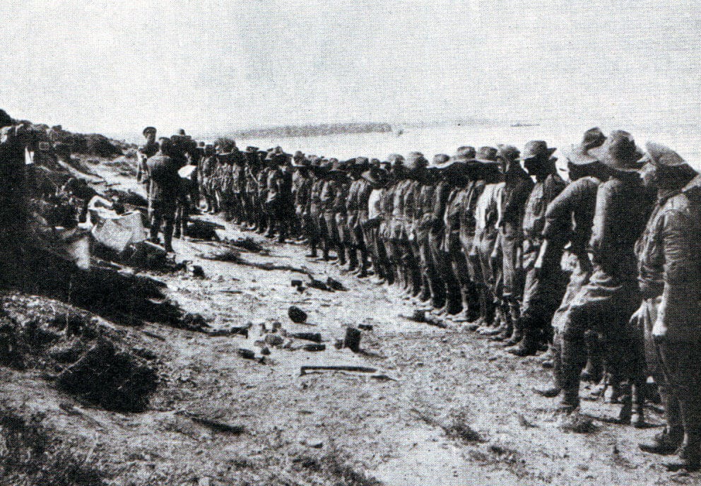 Australian roll-call Anzac Cove 25th April 1915: Gallipoli Part III, ANZAC landing on 25th April 1915 in the First World War