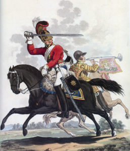 1st Life Guards: Battle of Waterloo 18th June 1815: picture by Charles Hamilton Smith