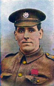 Lance Corporal GH Wyatt, 3rd Coldstream Guards, who won the Victoria Cross for bravery at Landrecies and at the Battle of Villers Cottérêts on 1st September 1914 in the First World War