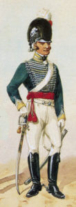 British 12th Light Dragoons: Battle of Salamanca on 22nd July 1812 during the Peninsular War: picture by Richard Simkin