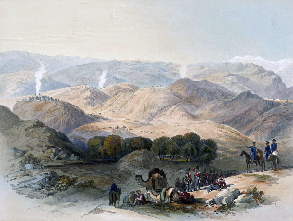 Grove and Valley of Jugduluk: Battle of Kabul and Retreat to Gandamak 1842 during the First Afghan War