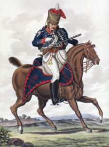 15th King's Light Dragoons: Battle of Vitoria on 21st June 1813 during the Peninsular War: picture by Charles Hamilton Smith