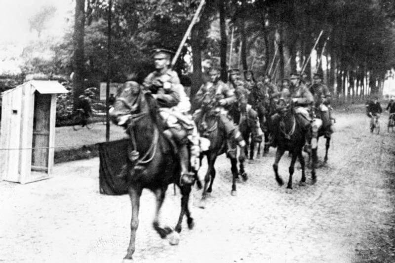 9th Lancers in Mons on 22nd August 1914: Battle of Mons on 23rd August 1914 in the First World War