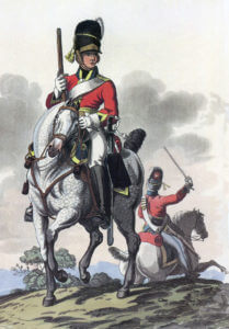 Royal Scots Greys 2nd Dragoons: Battle of Waterloo 18th June 1815: picture by Charles Hamilton Smith
