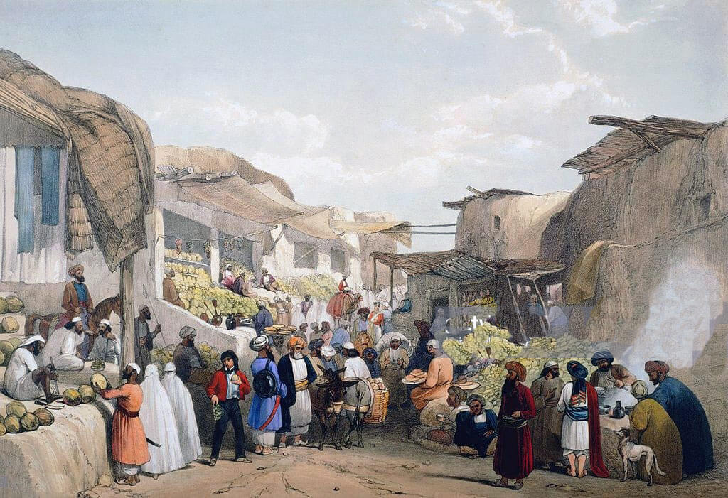 Bazaar in Kabul: Battle of Kabul 1842 in the First Afghan War