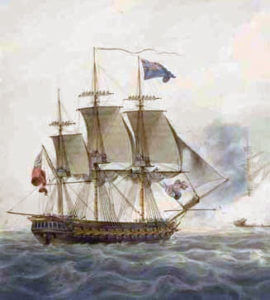 HMS Majestic: Battle of the Nile on 1st August 1798 in the Napoleonic Wars