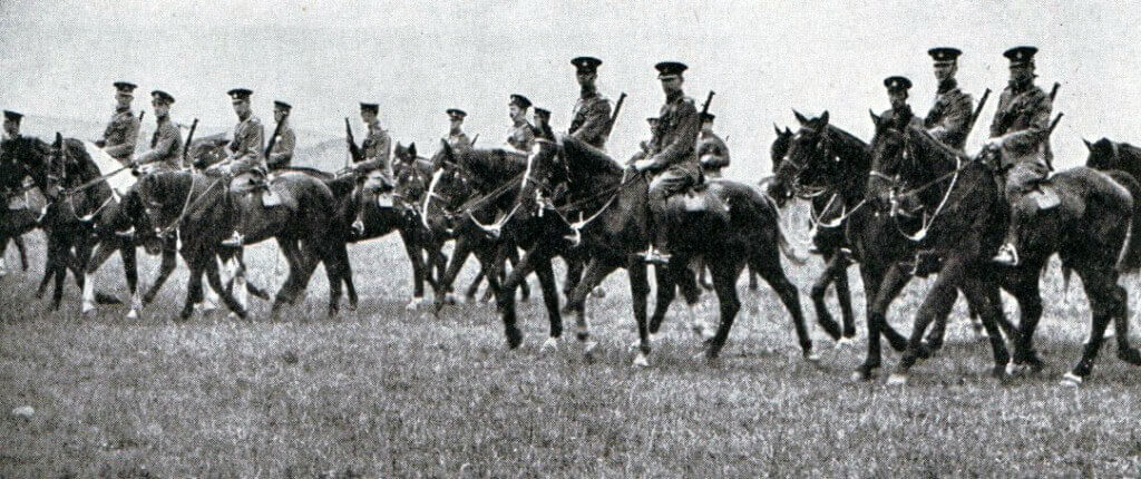 British cavalry in 1914: Battle of the Marne, fought from 6th to 9th September 1914, during the First World War