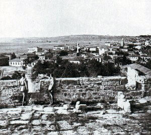 The town of Chanak on the Asiatic coast of the Dardanelles, seen after the War: Gallipoli Part II, March 1915 to January 1916 in the First World War