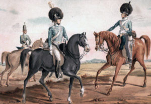 British Light Dragoons: Battle of Busaco on 27th September 1810 in the Peninsular War