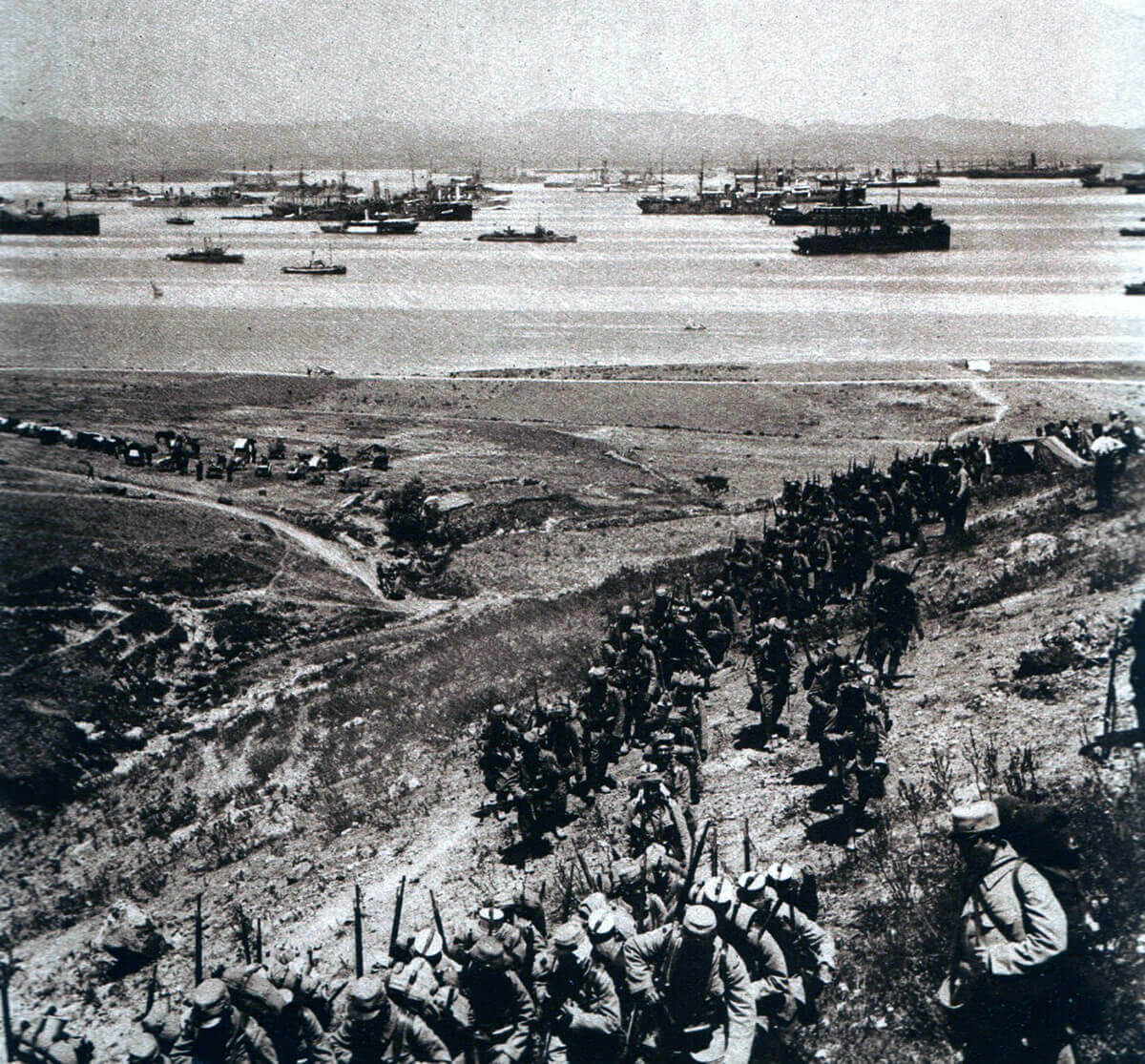 French troops training on the Greek Island of Lemnos before leaving for the landing on the Gallipoli Peninsula: Gallipoli Part II, March 1915 to January 1916 in the First World War