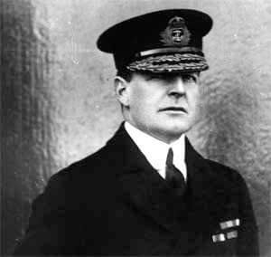 Rear Admiral David Beatty RN. Beatty's battle cruiser squadron was despatched by the Commander-in-Chief of the Grand Fleet, to provide support for the Battle of Heligoland Bight on 28th August 1914 in the First World War. Beatty's ships were crucial in winning the battle, sinking the German light cruisers Cöln and Ariadne