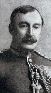 Brigadier-General McCracken CB, DSO, commander of 7th Infantry Brigade, wounded during the Battle of Le Cateau on 26th August 1914 in the First World War