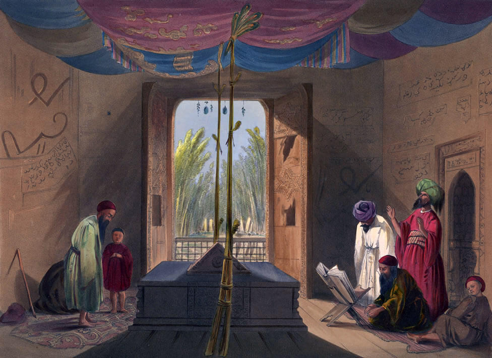 The gates in the toomb of Sultan Mahmud of Ghuznee, removed by Brigadier Nott as the 'Gates of Somnath': Battle of Kabul 1842 in the First Afghan War