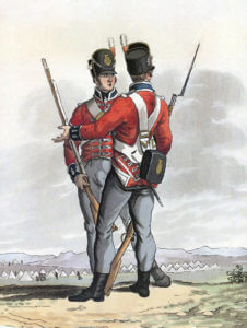 1st Foot Guards: Battle of Vitoria on 21st June 1813 during the Peninsular War: picture by Charles Hamilton Smith