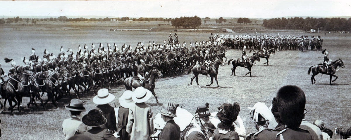 5th Dragoon Guards passing in review before King George V in June 1914: British Expeditionary Force (BEF) 1914 Order of Battle