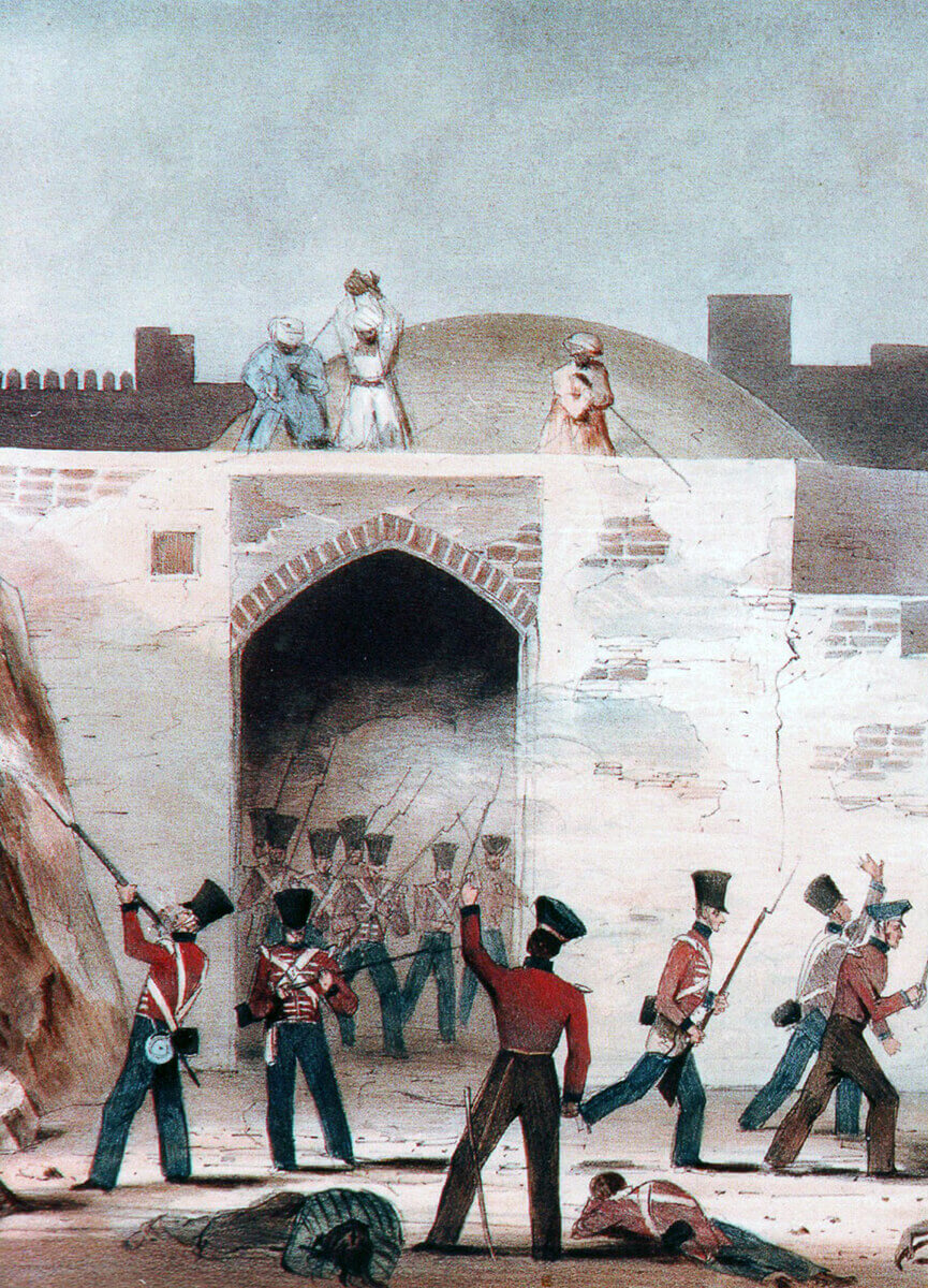 Attack on the Kabul Gate at the Battle of Ghuznee on 23rd July 1839 in the First Afghan War