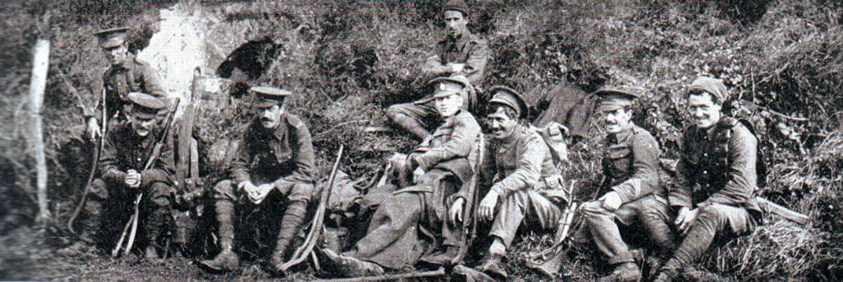 British troops during the Battle of the Aisne, 10th to 13th September 1914 in the First World War