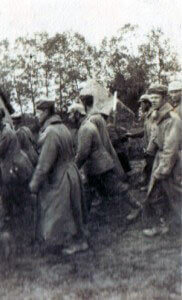 German soldiers captured on 14th September 1914 during the Battle of the Aisne by British troops (photo by Captain Harry Baird, ADC to General Haig)