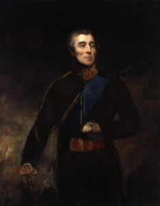 The Duke of Wellington: Battle of Waterloo on 18th June 1815: picture by John Jackson