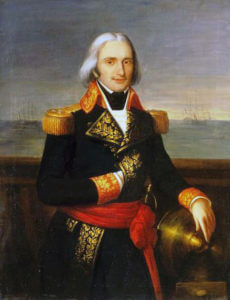 Admiral Brueys d'Aigalliers French commander killed at the Battle of the Nile on 1st August 1798 in the Napoleonic Wars
