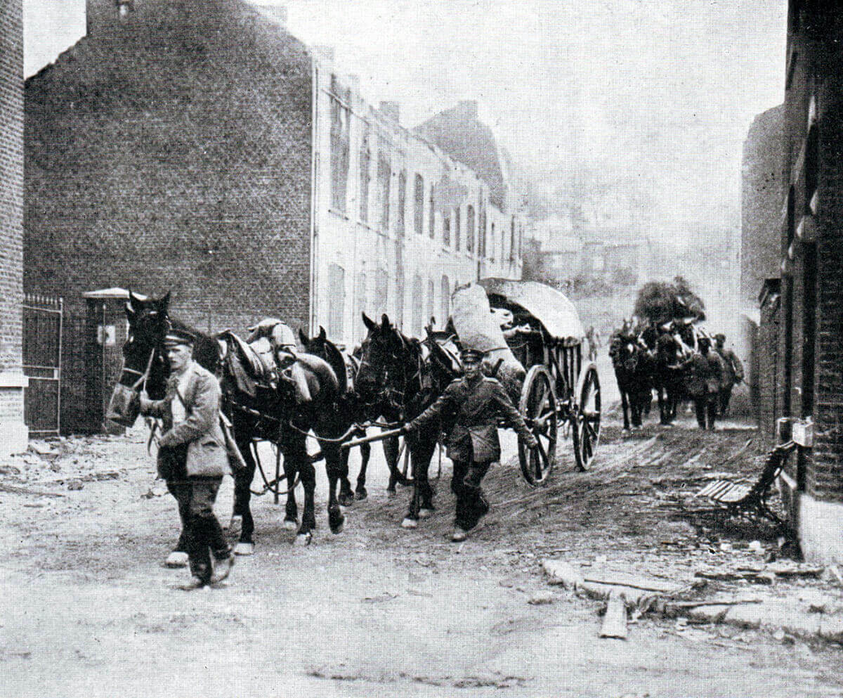 German transport: Battle of the Aisne, 10th to 13th September 1914 in the First World War