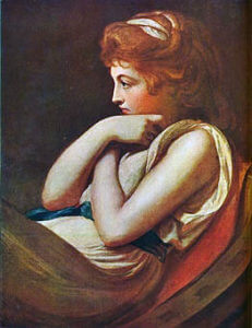 Emma, Lady Hamilton painted by George Romney