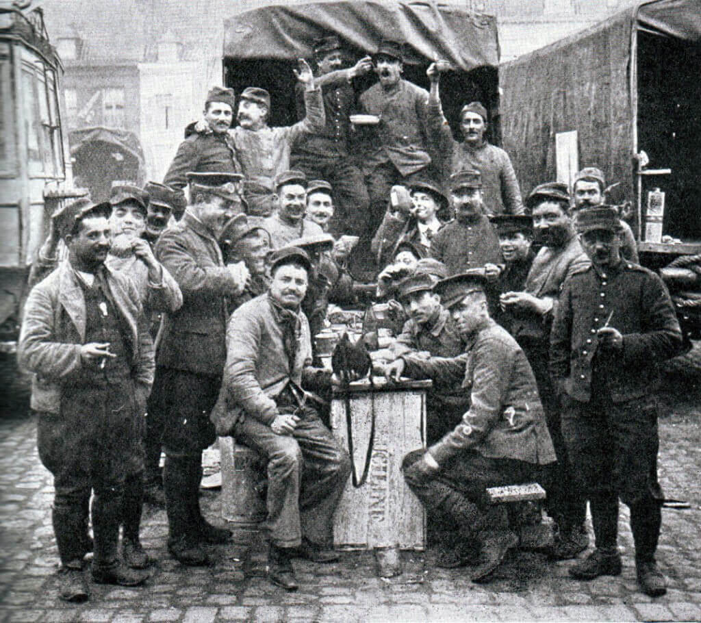British and French troops during the Battle of the Marne:Battle of the Marne, fought from 6th to 9th September 1914, during the First World War