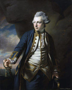 Admiral Sir John Jervis British commander at the Battle of Cape St Vincent on 14th February 1797 in the Napoleonic Wars: picture by Francis Cotes