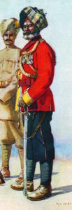 Indian officer, 38th Dogras by AC Lovett