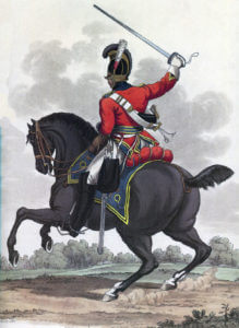 3rd King's Own Dragoons: Battle of Salamanca on 22nd July 1812 during the Peninsular War: picture by Charles Hamilton Smith