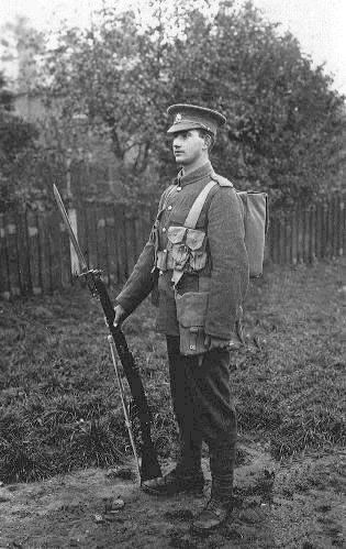 Private of the Coldstream Guards in 1914: Battle of Landrecies on 25th August 1914 in the First World War