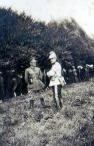 Officers, British and French, of 5th Cavalry Brigade (photo by Captain Harry Baird, ADC to General Haig)