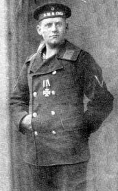 Senior Stoker Olf Neumann, the sole survivor from the crew of the German light cruiser SMS Cöln, sunk by Admiral Beatty's battle cruisers in the Battle of Heligoland Bight on 28th August 1914 in the First World War