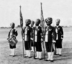Colour Party of 45th Rattray's Sikh Infantry: Malakand Field Force, 8th September 1897 to 12th October 1897 on the North-West Frontier of India