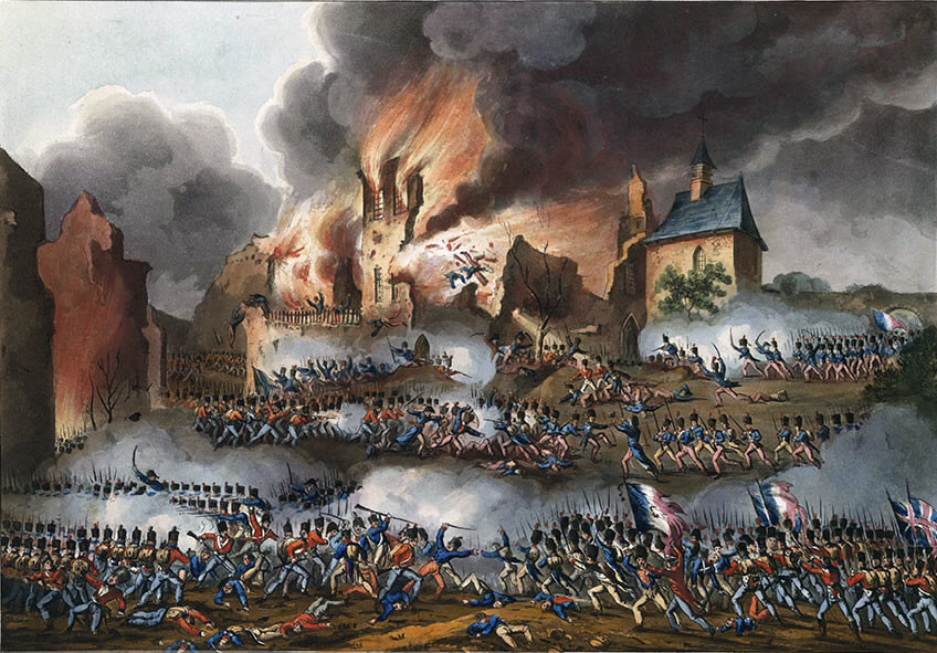 Fighting inside Hougoumont Château: Battle of Waterloo on 18th June 1815