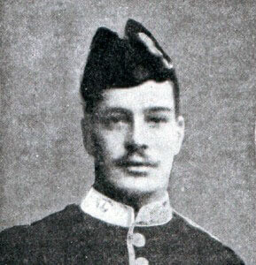 Private George Wilson 2nd HLI awarded the Victoria Cross for his conduct at the BBattle of the Aisne, 10th to 13th September 1914 in the First World War