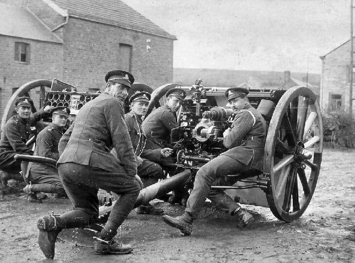 Royal Horse Artillery 13 pounder Quick Firing gun: Battle of Néry on 1st September 1914 in the First World War