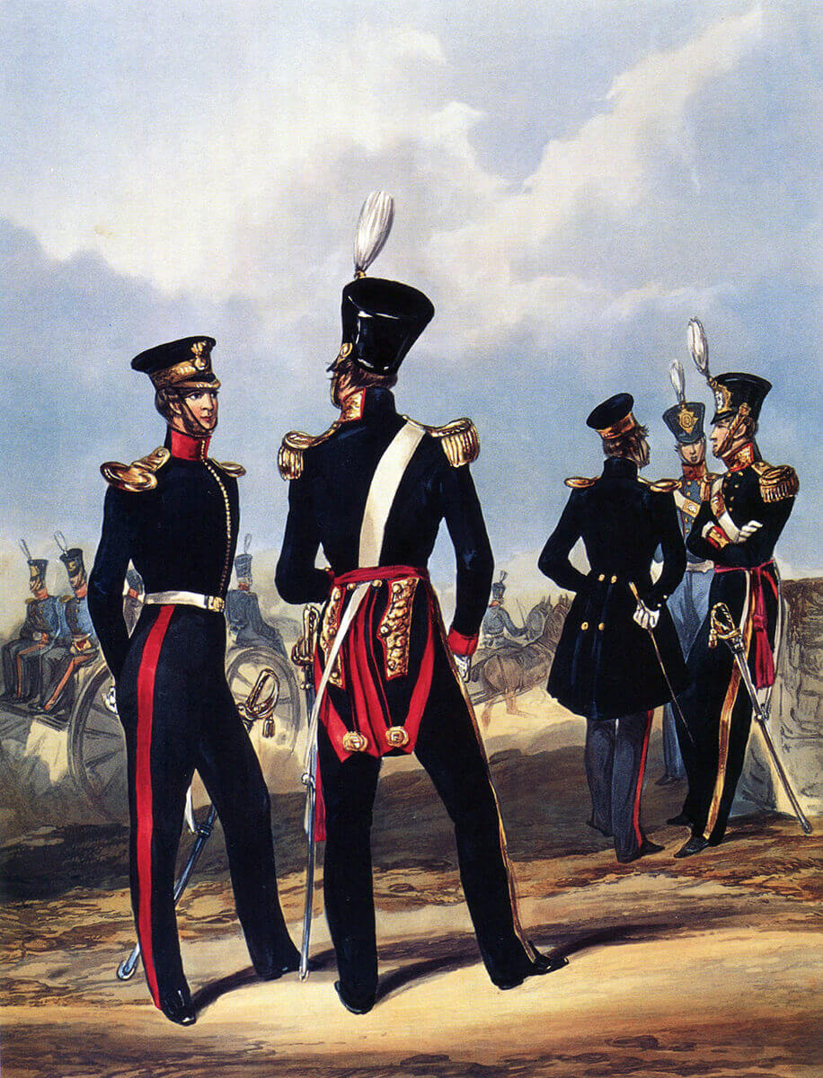 Bengal Army Foot Artillery: Battle of Kabul 1842 in the First Afghan War: print by Ackermann